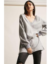 Forever 21 - Fleece Lace-trim Top - Lyst