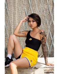 Forever 21 Lakers Graphic Shorts - Yellow