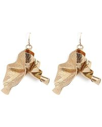 Forever 21 - Textured & Smooth Crinkled Drop Earrings - Lyst
