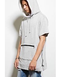 Forever 21 - Victorious Zip-front Longline Hoodie - Lyst