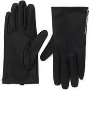 Forever 21 Faux Leather Gloves - Black