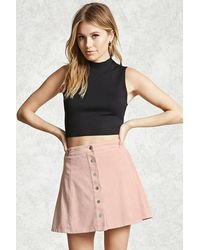 Forever 21 Contemporary Faux Suede Skirt in Pink | Lyst
