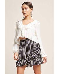 Forever 21   Stripe Tulip Flounce Skirt   Lyst