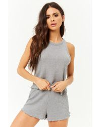 Forever 21 - Waffle Knit Pj Set - Lyst