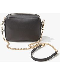 Forever 21 - Faux Leather Crossbody Bag , Black - Lyst
