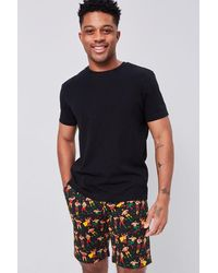 Forever 21 Luchador Print Buttoned Shorts - Black