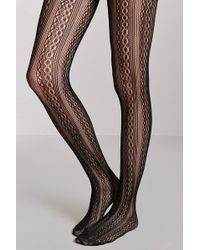 Forever 21 - Sheer Geo Tights - Lyst