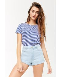Forever 21 - High-waisted Denim Shorts - Lyst