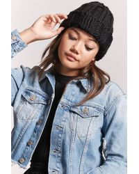 Forever 21 - Chunky Ribbed Knit Beanie - Lyst