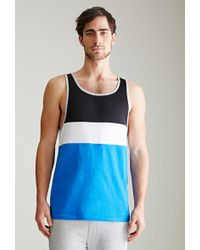 Forever 21 - Colorblocked Piqué Tank Top - Lyst