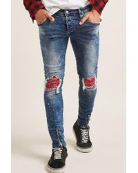 Forever 21 | Project Paris Patched Jeans | Lyst