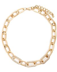 Forever 21 - Chain-link Rhinestone Necklace - Lyst