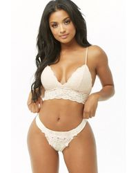 Forever 21 Floral Lace Thong Panty , Light Pink