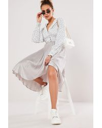 Missguided - Pleated Skirt At - Lyst