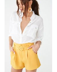 d3cfd9ac270 Forever 21 - Gauze Button-front Shirt - Lyst