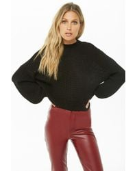 Forever 21 - Ribbed Knit Mock Neck Sweater - Lyst