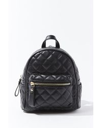 Forever 21 Quilted Mini Backpack - Black