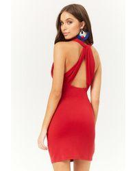 Forever 21 - Plunging Knee-length Dress - Lyst