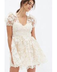 Forever 21 - Floral Applique Dress - Lyst