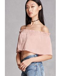 6ea788621488e6 Lyst - Forever 21 Plus Size Off-the-shoulder Top