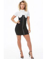Forever 21 - Hook-and-eye Bustier-inspired Tube Dress - Lyst