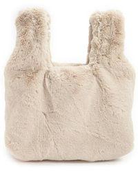 Forever 21 Faux Fur Handbag , Ivory - White