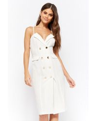 Forever 21 - Double-breasted Pinstripe Dress - Lyst
