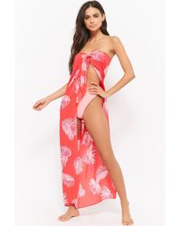 Forever 21 - Women's Leaf Print Swim Cover-up Dress - Lyst