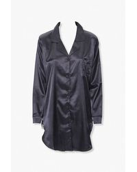 Forever 21 - Satin Lounge Shirt - Lyst