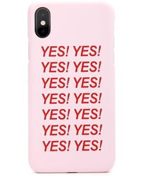 Forever 21 Yes Graphic Case For Iphone X/xs , Pink