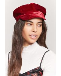 e5c48cc08e1bb Forever 21 Faux Leather Beret in Red - Lyst