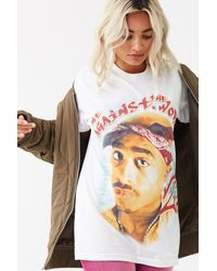 Forever 21 Tupac Graphic Tee , White/multi