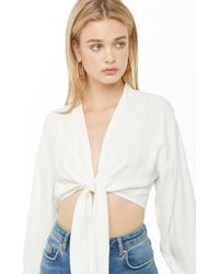 Forever 21 - Shadow Striped Crop Top - Lyst