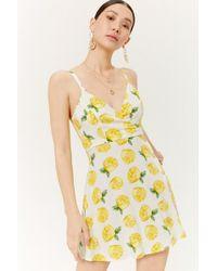 Forever 21 - Lemon Print Mini Dress - Lyst
