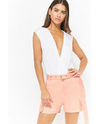 Forever 21 - Belted Cargo Shorts - Lyst