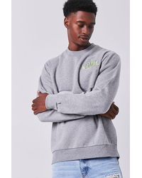 Forever 21 City Embroidered Graphic Sweatshirt - Gray