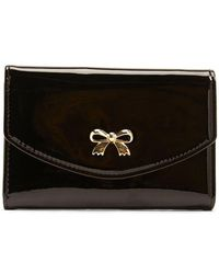Forever 21 Faux Patent Leather Bow Wallet - Black