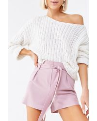 Forever 21 Self-tie Sash Shorts - Purple