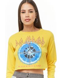 ab5ff00d4 Lyst - Forever 21 Plus Size Def Leppard Tour Tee in Black