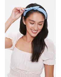 Forever 21 Bow Headband - Blue