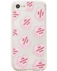 Forever 21 Heart Graphic Phone Case For Iphone 6/7/8 , Pink/multi - Multicolor