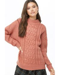 Forever 21 - Women's Cable Knit Jumper - Lyst