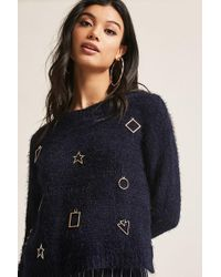 Forever 21 | Chenille Knit Geo Top | Lyst