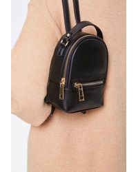 Forever 21 Faux Leather Mini Backpack In Black