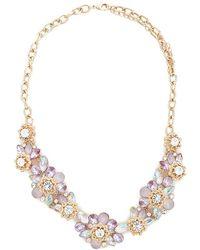 Forever 21 - Floral Cluster Statement Necklace - Lyst