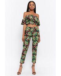 Forever 21 - Floral Print Crop Top & Pants Set - Lyst