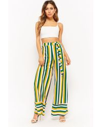 Forever 21 - Belted Stripe Pants - Lyst