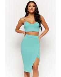 Forever 21 - Cropped Cami & Asymmetrical Skirt Set - Lyst