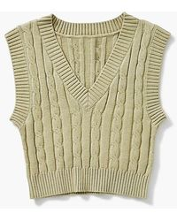 Forever 21 Girls Sleeveless Cable-knit Sweater (kids) - Multicolour