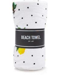 Forever 21 - Lemon Print Polka Dot Beach Towel - Lyst